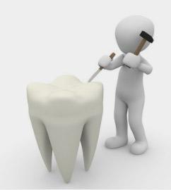 牙齿的变色程度